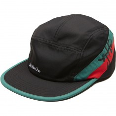 Just Have Fun Happy Camper 5 Panel Hat - Green/Red