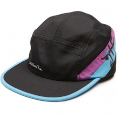 Just Have Fun Happy Camper 5 Panel Hat - Purple/Blue