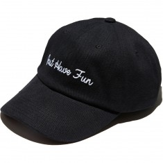 Just Have Fun Family Dad Hat - Black/White