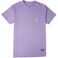 Grizzly OG Bear Embroidered Pocket T-Shirt - Lavender/White