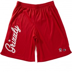 Grizzly X Champion Behind The Arc Mesh Shorts - Red