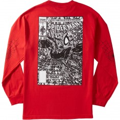 Grizzly X Spiderman Longsleeve T-Shirt - Vintage Red