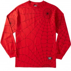 Grizzly X Spiderman Webbed Longsleeve T-Shirt - Red