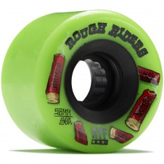 Bones Rough Riders Shotgun Skateboard Wheels - Green - 56mm