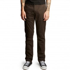 Altamont A/969 Slim Straight Chino Pants - Dark Brown