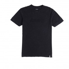 Altamont One Liner Wash T-Shirt - Black/Black