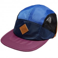 Just Have Fun Campfire 5 Panel Hat - Navy/Burgundy