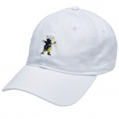 Grizzly X Ghost Rider Dad Hat - White