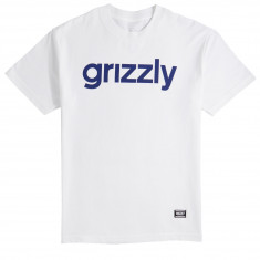 Grizzly Lowercase T-Shirt - White/Navy