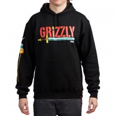 Grizzly X Adventure Time Grizzly Time Hoodie - Black