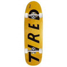 Tired Lowercase Logo On Sigar Skateboard Complete - 9.25""