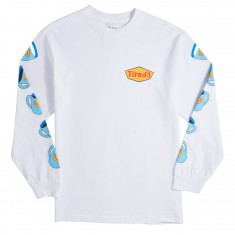 Tired Diner Longsleeve T-Shirt - White