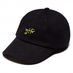 Just Have Fun Classic Skate Dad Hat - Black /Neon Green