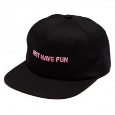 Just Have Fun On Lock Snapback Hat - Black/Pink