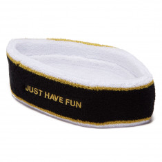 Just Have Fun Capital Headband - Black/Gold