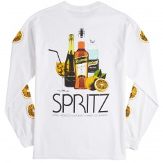 Skate Mental Spritz Long Sleeve T-Shirt - White