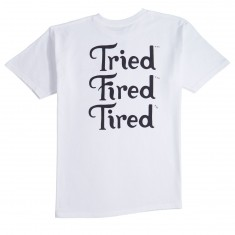 Tired Fired Stack T-Shirt - White