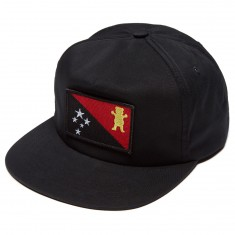 Grizzly X BLVCK Flag Snapback Hat - Black