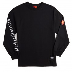 Grizzly X BLVCK Flag Long Sleeve T-Shirt - Black