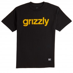 Grizzly Lowercase T-Shirt - Black/Yellow