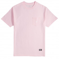Grizzly OG Bear Embroidered Pocket T-Shirt - Pink/White