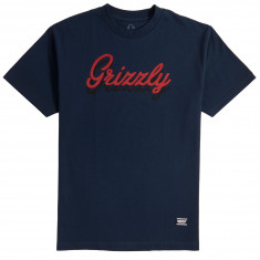 Grizzly Cursive T-Shirt - Navy