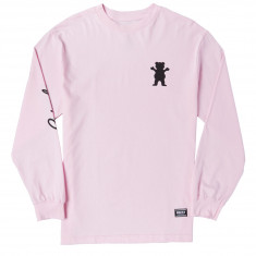 Grizzly Cursive Long Sleeve T-Shirt - Pink