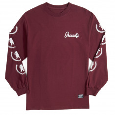 Grizzly Premiere Long Sleeve T-Shirt - Burgundy