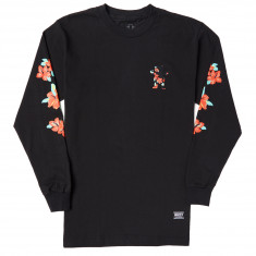Grizzly Luan Floral Long Sleeve T-Shirt - Black