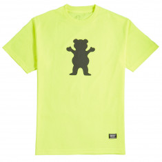 Grizzly Safety Bear T-Shirt - Neon Green