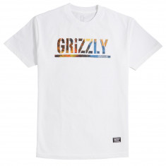 Grizzly Stamped Scenic T-Shirt - White