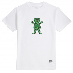Grizzly Warped Bear T-Shirt - White