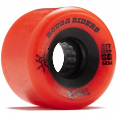 Bones Rough Riders Skateboard Wheels - Red - 56mm