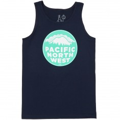Casual Industrees PNW 2 Color Tank Top - Navy Blue