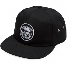 Casual Industries PNW Strapback Hat - Black