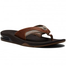 Reef Leather Fanning Sandals - Brown/Brown