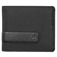 Nixon Showoff Bi-Fold Wallet - All Black Nylon