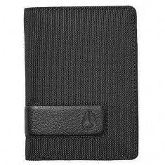 Nixon Showup Card Wallet - All Black Nylon