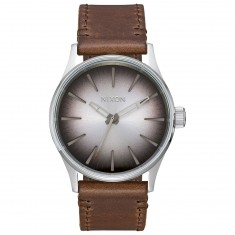 Nixon Sentry 38 Leather Watch - Ombre/Taupe