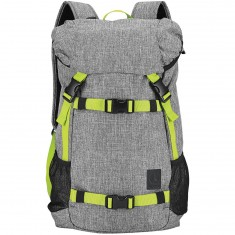 Nixon Landlock SE Backpack - Heather Gray/Lime