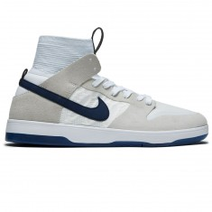 Nike SB Zoom Dunk High Elite Cyrus QS Shoes - White/Midnight Navy/Pure Platnium