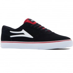 Lakai Manchester Shoes - Black Suede/Red