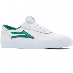 Lakai Manchester Shoes - White/Green Leather