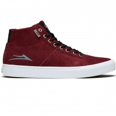Lakai Flaco High Shoes - Burgundy Suede