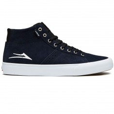 Lakai Flaco High Shoes - Navy/White Suede
