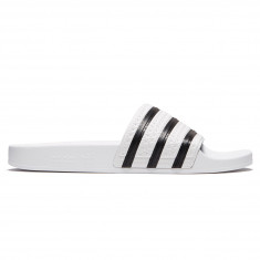 Adidas Adilette Slides - White/Core Black/White