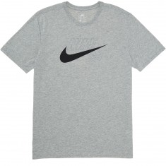 Nike SB Dri-Fit Swoosh Logo T-Shirt - Dark Grey Heather/Black