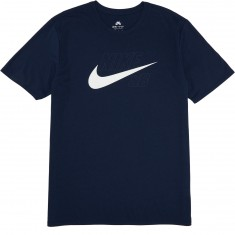 Nike SB Dri-Fit Swish Logo T-Shirt - Obsidian/White