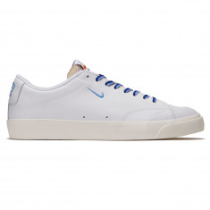 Nike SB x Quartersnacks Zoom Blazer Low XT Shoes - White/University Blue Sail