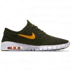 Nike Stefan Janoski Max Shoes - Sequoia/Circuit Orange/Gum Brown